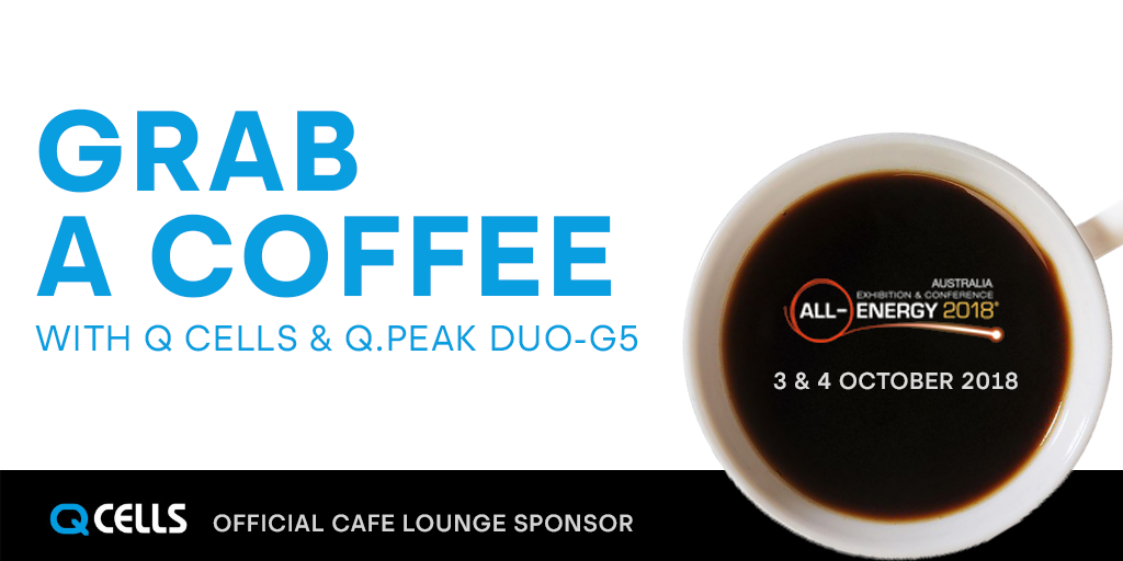Grab a coffee with Q CELLS at All Energy Australia